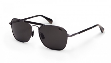 Solbrille Zeal Optics Draper (Polished Steel/Dark Grey)